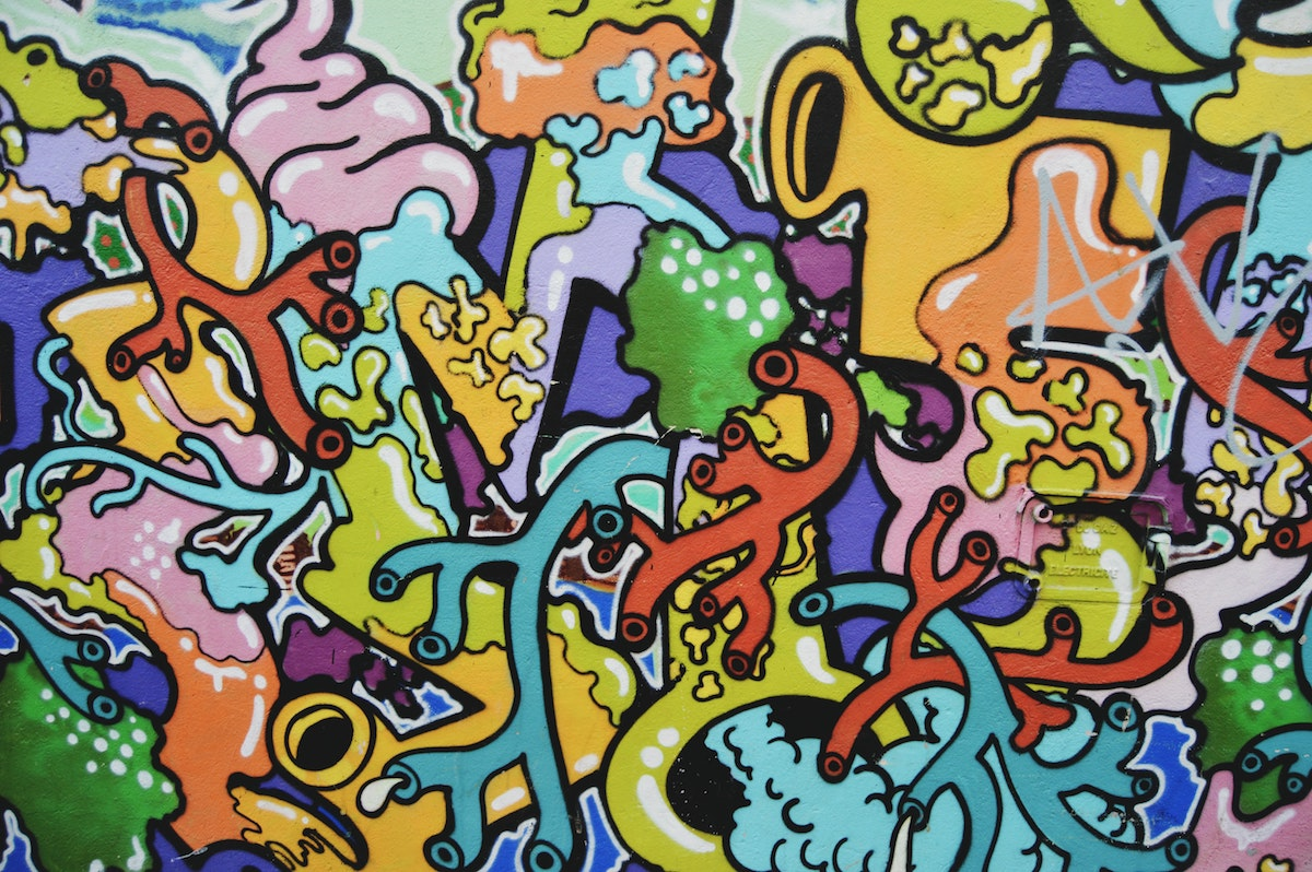 Parede com grafiti